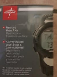 Medline heart rate watch with pedometer and stopwatch