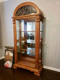 Oak wooden framed glass display cabinet Ashburn, 20148
