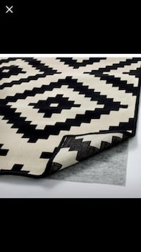Black and white area rug from ikea Toronto, M1R