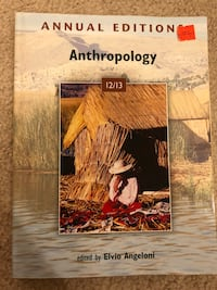 Anthropology Annual Edition 12/13 Cypress, 90630