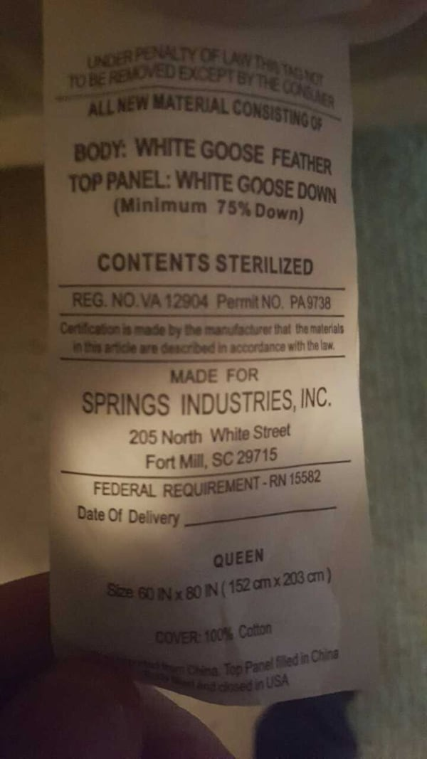 queen size white goose down featherbed 7ec02295-e3fe-4705-afed-77effd02af33