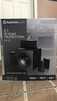 Black Kamron Audio 5.1 HD home theater system