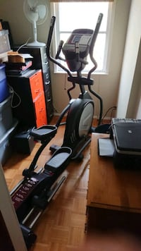 black and gray elliptical trainer. Sole E35.  Toronto, M6S 4R9
