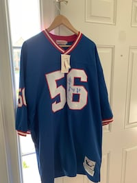 Lawrence Taylor Autographed Giants Throwback Jersey COA JSA 66 km