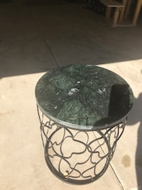 Side Table Iron and Stone Reston