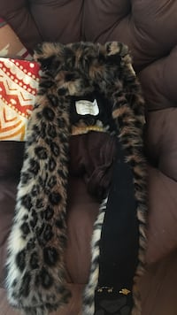 Leopard SpiritHood. Only worn once. Originally bought for $100. Will throw in pins for free   Westminster, 80005