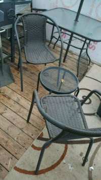 round black metal patio table with two chairs Spokane Valley, 99206