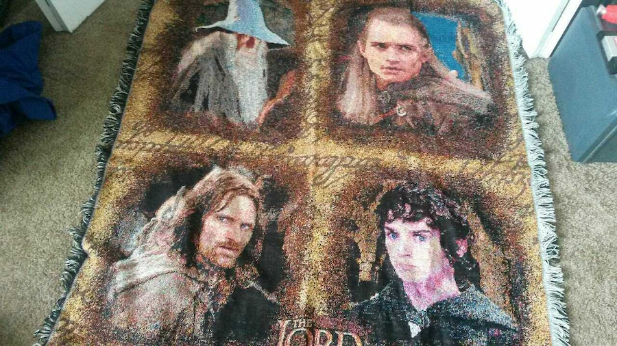 Lord Of The Rings Plush Blanket