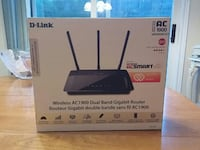 black D-Link wireless AC 1900 dual band router box 578 km
