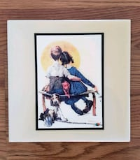 Norman Rockwell tile art FIRST LOVE  Lakewood, 80228
