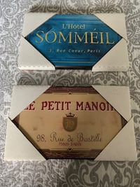 French Hotels Signs / Art