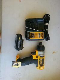yellow and black Dewalt wireless air impact wrench Mission