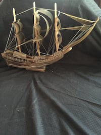 Hand carved horn ship  Parma, 44129