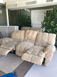 Fabric double recliner sofa or loveseat