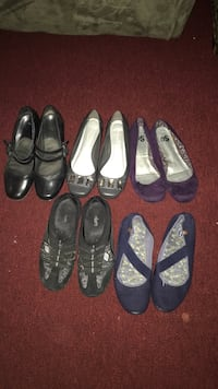 5 pairs of flats