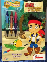 Disney JAKE NEVER LAND PIRATES colouring book WITH 3 JUMBO CRAYONS Brampton, L7A 3M5