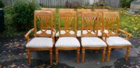8 dining wood chairs London, N5W