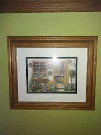 brown wooden framed painting of house Riverside, 92507
