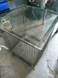 Glass and metal side table for sale Nobleton, L0G 1N0