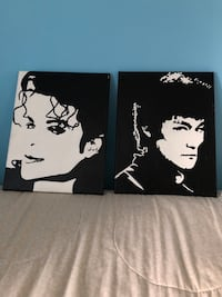Black and white painting Mj (Bruce Lee sold) Groton, 06340