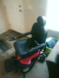 black and red motorized wheelchair Flint, 48507