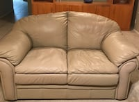 Tan leather couch and love seat - picture of love seat is the color of both Cedar Park