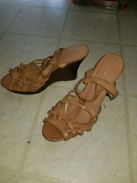 pair of brown leather open-toe sandals Frederick, 21702