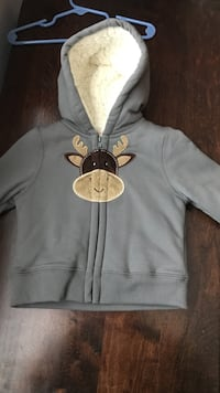 boy's gray zipped hoodie size 12 months never worn Vacaville, 95687