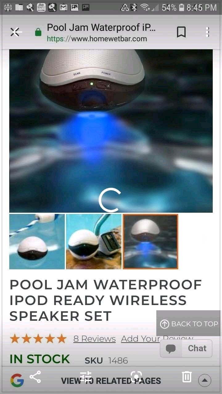 Photo Floating pool speakers with lights 2 sets