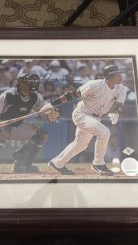 signed New York Yankees player photo with brown frame Lantana, 33462