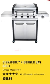 Dual Gas Grill 530 With Sideburner 30000 B BRAND NEW Saint-Jérôme, J7Y