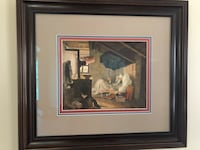 German litho, triple-matted and framed Nokesville, 20181