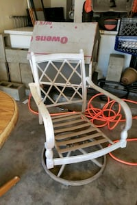 white and red wooden rocking chair 2232 mi