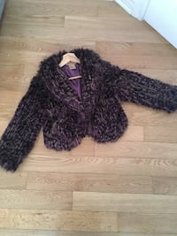 Women's black and purple fur coat size medium  Montréal, H4M 2L3