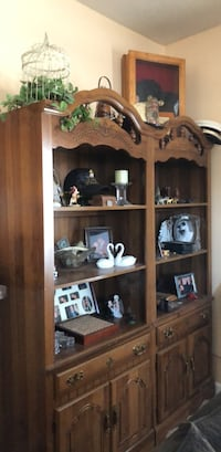 brown wooden shelf with cabinet Middletown, 21769