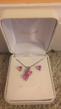 Sterling silver pink heart set Concord, 28027