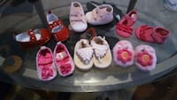 Size 0 babygirl shoes all for $15 Merced, 95341