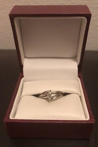 Enganche and wedding ring set 3/4 K Diamond white Gold