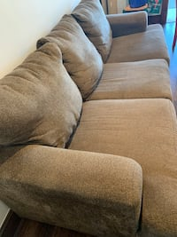 Brown 3 seater cloth couch Washington, 20011