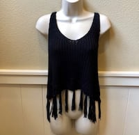 Free flowing boho Mistic Prysm by Listicle knitted tank top. Sz M