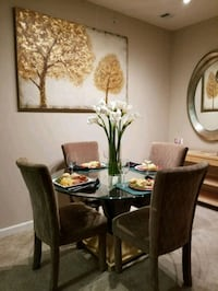 Contemporary Dining Set w/Glass Table Greenbelt, 20770