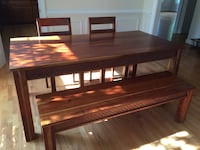World market Solid wood dining table with chairs and bench  Bethesda, 20817