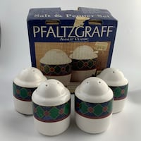 PFALTZGAFF- AMALFI CLASSIC 4-PIECE SALT AND PEPPER SHAKER SET Vancouver, V5T 2M5