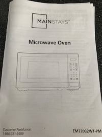 Mainstay microwave Knightdale