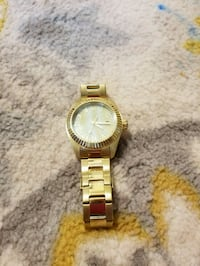 Invicta round gold analog watch with link bracelet Rockville, 20850