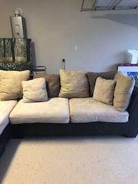 White and Expresso Brown sectional couch El Paso, 79938