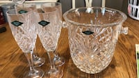 Crystal flutes and ice bucket Bordentown, 08505