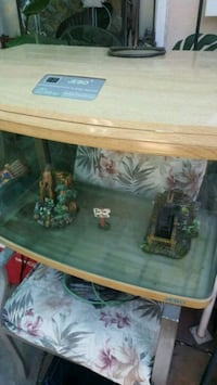 brown wooden framed fish tank La Habra, 90631