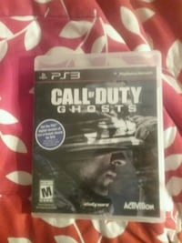 PS3 Call of Duty GHOSTS case Somerset, 02726
