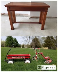 Solid Wood Game Table and Radio Flyer Wagon and Tricycle Wentzville